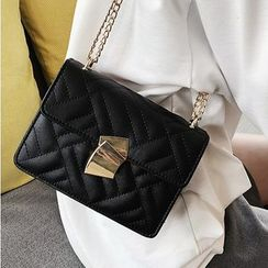 SUMME - Quilted Faux Leather Shoulder Bag