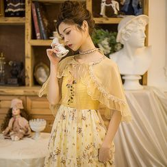 Rosian - Sleeveless Chiffon A-Line Midi Dress