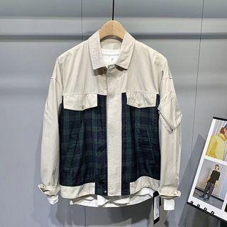 Orizzon - Plaid Panel Jacket
