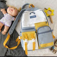 Hampa(ハンパ) - Paneled Buckled Backpack