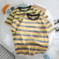 OSIGRANDI - Short-Sleeve Striped T-Shirt