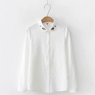 Angel Love - Flower Embroidered Shirt