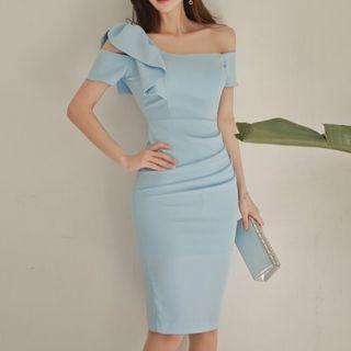 Aurora - Ruffled Sheath Dress