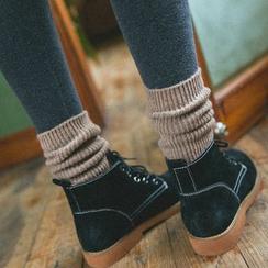 Socka - 3 Pairs: Plain Wool Socks