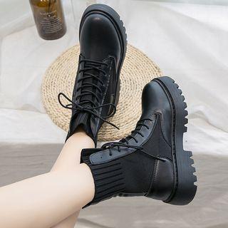 Yuki Yoru - 仿皮短靴