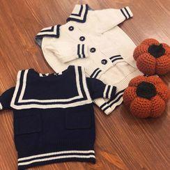 Bixin - Sailor Collar Knit Pet Top