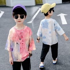 PAM(パム) - Kids Long-Sleeve Tie-Dyed T-Shirt