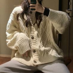 Moon City - Buttoned Cable Knit Cardigan