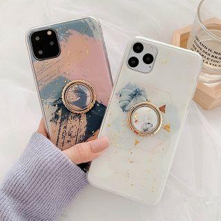 Aion - 金箔水彩支架11Pro/Max苹果X/XS/XR适用手机壳iPhone7p/8plus女