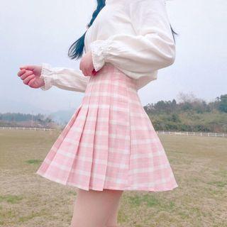 Yoshimi - Plaid Pleated Mini Skirt