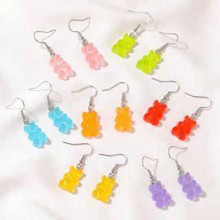 Mulyork - Resin Gummy Bear Drop Earring