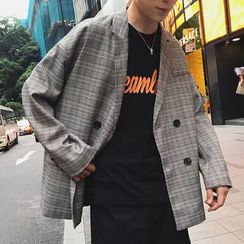 JUN.LEE - Plaid Blazer
