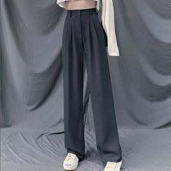 Indiclofie - High-Waist Wide-Leg Dress Pants