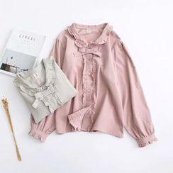 HANIA - 皱摺边衬衫
