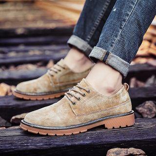 MARTUCCI - Genuine Suede Lace-Up Shoes