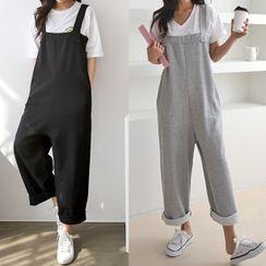 Seoul Fashion - Sleeveless Low-Crotch Jumpsuit