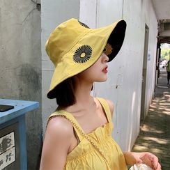FROME - Embroidered Daisy Sun Hat