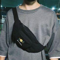 SUNMAN - Embroidered Canvas Belt Bag
