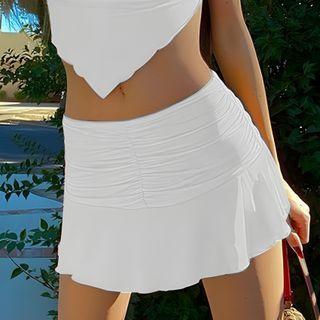 BrickBlack - Ruched Mini Skirt