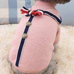 Salonga - 蝴蝶结装饰针织宠物上衣