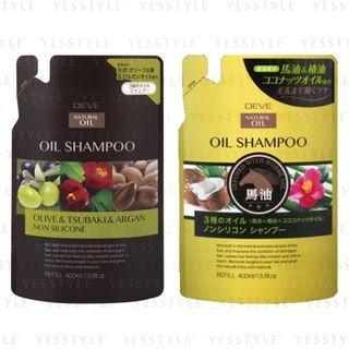 KUMANO COSME - Deve 3 Natural Oil Oil Shampoo Refill 400ml - 2 Types