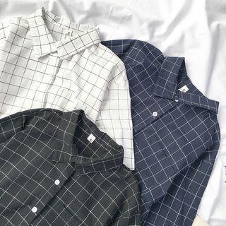 Miruku - 格子短袖衬衫
