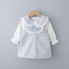 Mini Bae - Kids Collared Long-Sleeve Dress