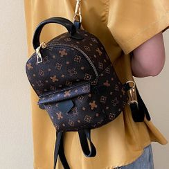della renna - Patterned Faux Leather Backpack