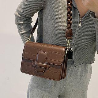 NewTown - Croc Grain Crossbody Bag
