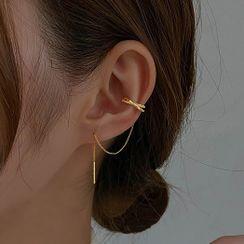 True Glam - 穿线耳环连耳挂