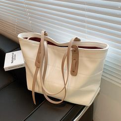 Skyglow(スカイグロウ) - Faux Leather Tote Bag