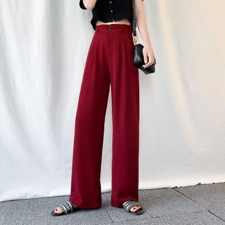 Koolgoon - 高腰宽腿西裤