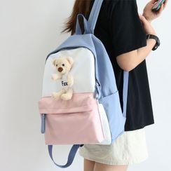 Little Days - Color Block Plush Backpack
