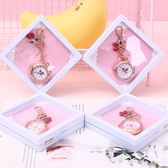 SASHI - 櫻桃口袋錶鑰匙扣