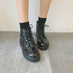 Laceuplux - Lace-Up Short Boots