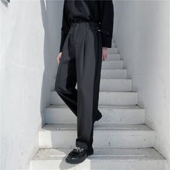 Citigleam - Straight Leg Dress Pants