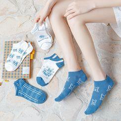 Engla - 四件套裝: 印花襪子