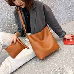 Koniga - 套装: 仿皮手提袋 + 小袋