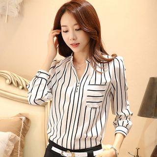 Hilsah - Striped Chiffon Shirt