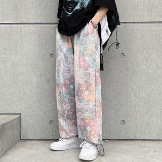 Shineon Studio - 圖案印花抽繩褲