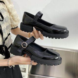 Nikao - 厚底粗跟玛莉珍鞋