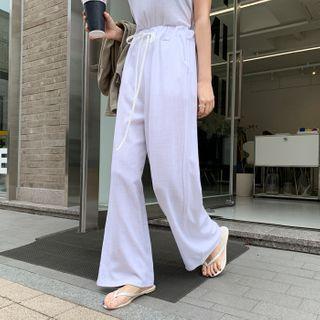 DEEPNY - Linen Blend Wide-Leg Pants