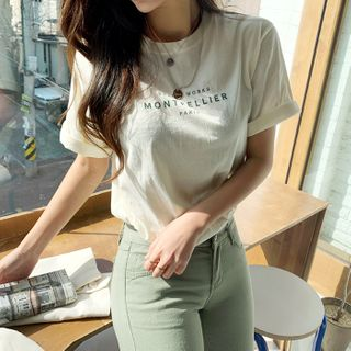 DEEPNY - Letter-Printed Cotton T-Shirt