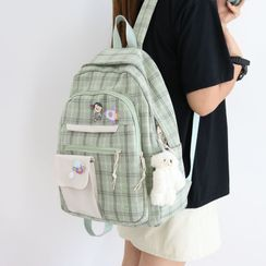 Little Days - Plaid Canvas Backpack