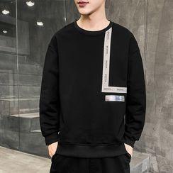 Sheck(シェック) - Lettering Panel Sweatshirt