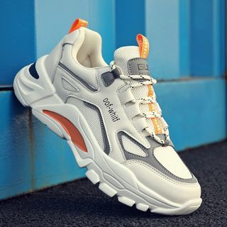 TATALON - Lace-Up Panel Fleece-Lined Athletic Sneakers