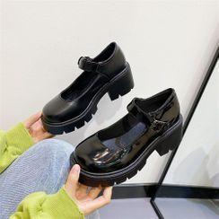 kokoin - Platform Chunky Heel Mary Jane Shoes