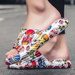 Auxen(オークセン) - Print Slide Sandals