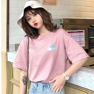 Chogen - Short-Sleeve Embroidered T-Shirt
