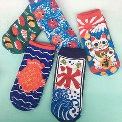 Hello minto - Japanese Patterned Socks